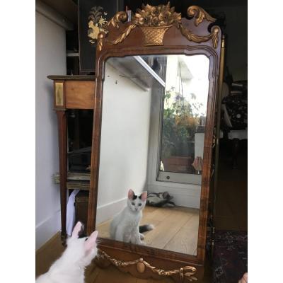 Miroir en Acajou, Angleterre , XIXème
