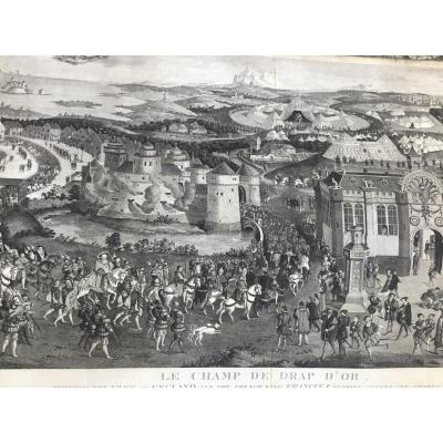 The Camp Of The Golden Sheet Large Engraving Panoramic (119cm)