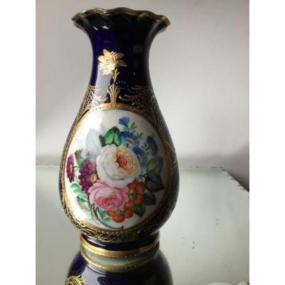 Vase En Porcelaine De Sèvres , époque Napoléon III