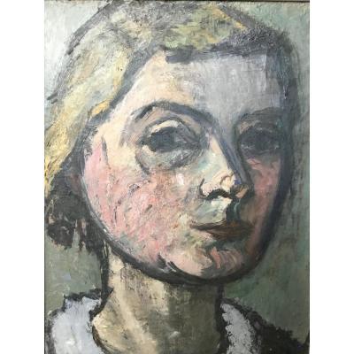Autoportrait De Femme Artiste Danoise