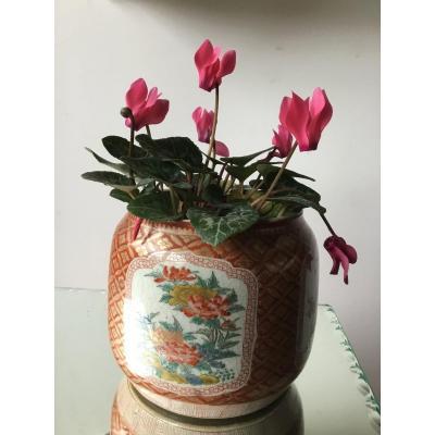 Petit Cache Pot En Porcelaine  De Satsuma, Japon, époque Edo