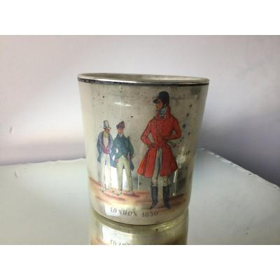 Eglomise Glass With Painted Decor, London 1830