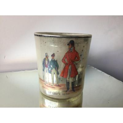 Verre Eglomisé à Décor Peint, London  1830