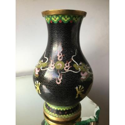 Vase With Dragons And The Fire Pearl, China, XIXth