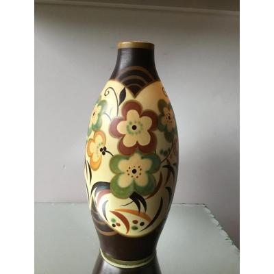 Charles Catteau & Kéramis Vase Art Deco