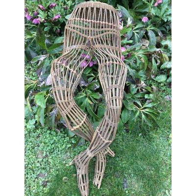 Wicker Mannequin Legs, Around 1900