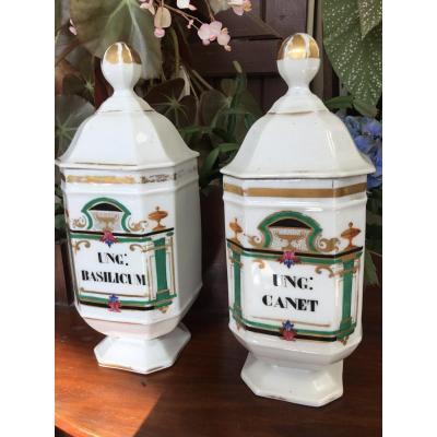 The  Porcelaine Pharmacie Jar XIXth Century