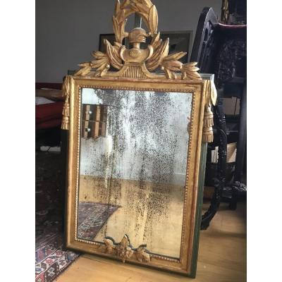 Sculpted And Gilded Wood Mirror, Louis XVI Period