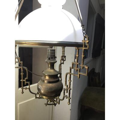 Suspension, Lampe à Pétrole Au Motifs Chinoisants