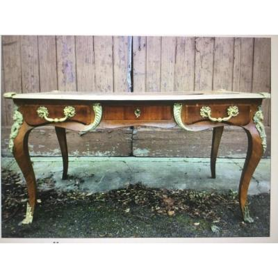 Large Flat Desk From St Louis XV, XIXth