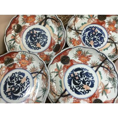 Small Porcelain Dishes Imari Japan, XIXth