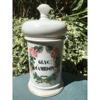 Pot Couvert De Pharmacie En Faience , XIXème