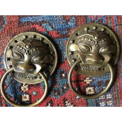 Furnishing Bronze, Taotie Masks