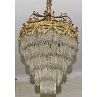 Louis XVI Style Chandeliers , 5 Rawls  Of Cristals