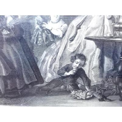 Fête De Saint Nicolas Gravure D Après Cornelis Troost Du 18eme