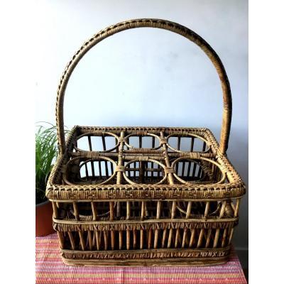 Ratan Basket For Glasses , 1900