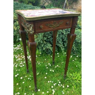 Louis XVI Style Flying Table With Strong Ornamentation