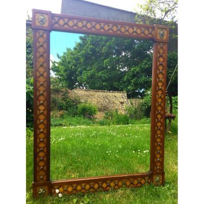 Grand Miroir Des Années 40 à Croisillons, Estampillé