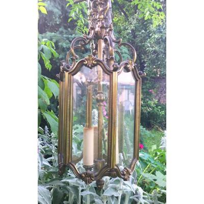 Lanterne De Style Louis XV En Bronze Doré