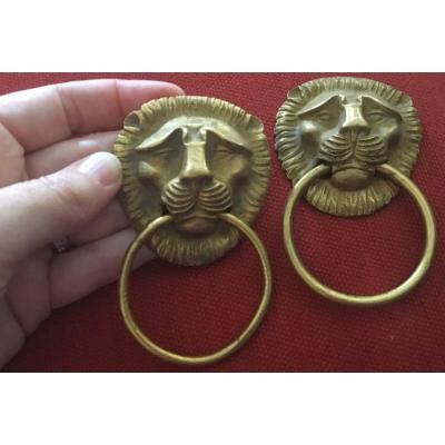 Bronzes D'ameublement , Mufles De Lion , Poignées De Tirage