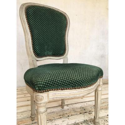 Chaise laquée De Style Louis XVI