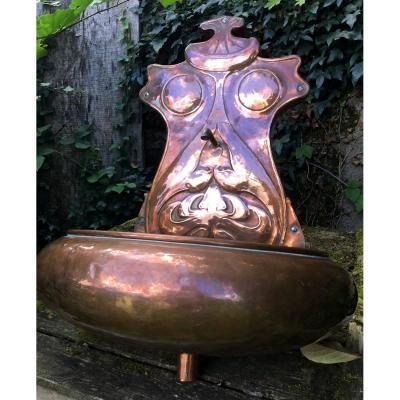 Grotesque, Anthropomorphic Copper Fountain