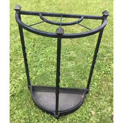 Umbrella Stand In Cast Iron With Three Compartments