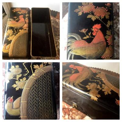 Glove Box Or Fan Box In Japanese Lacquer