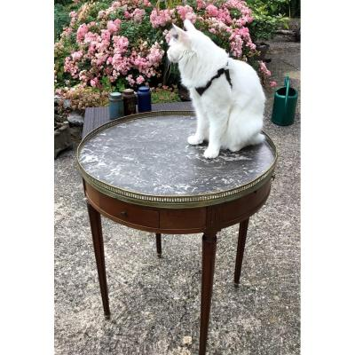Louis XVI Style Bouillotte Table By Cabinetmaker Frederic Massin