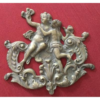 Furnishing Bronze With Doves, XIXth