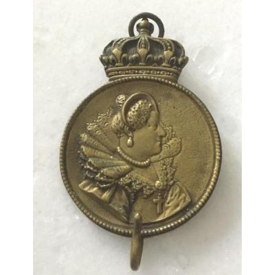 Miniature Door In The Effigy Of Marie De Medici