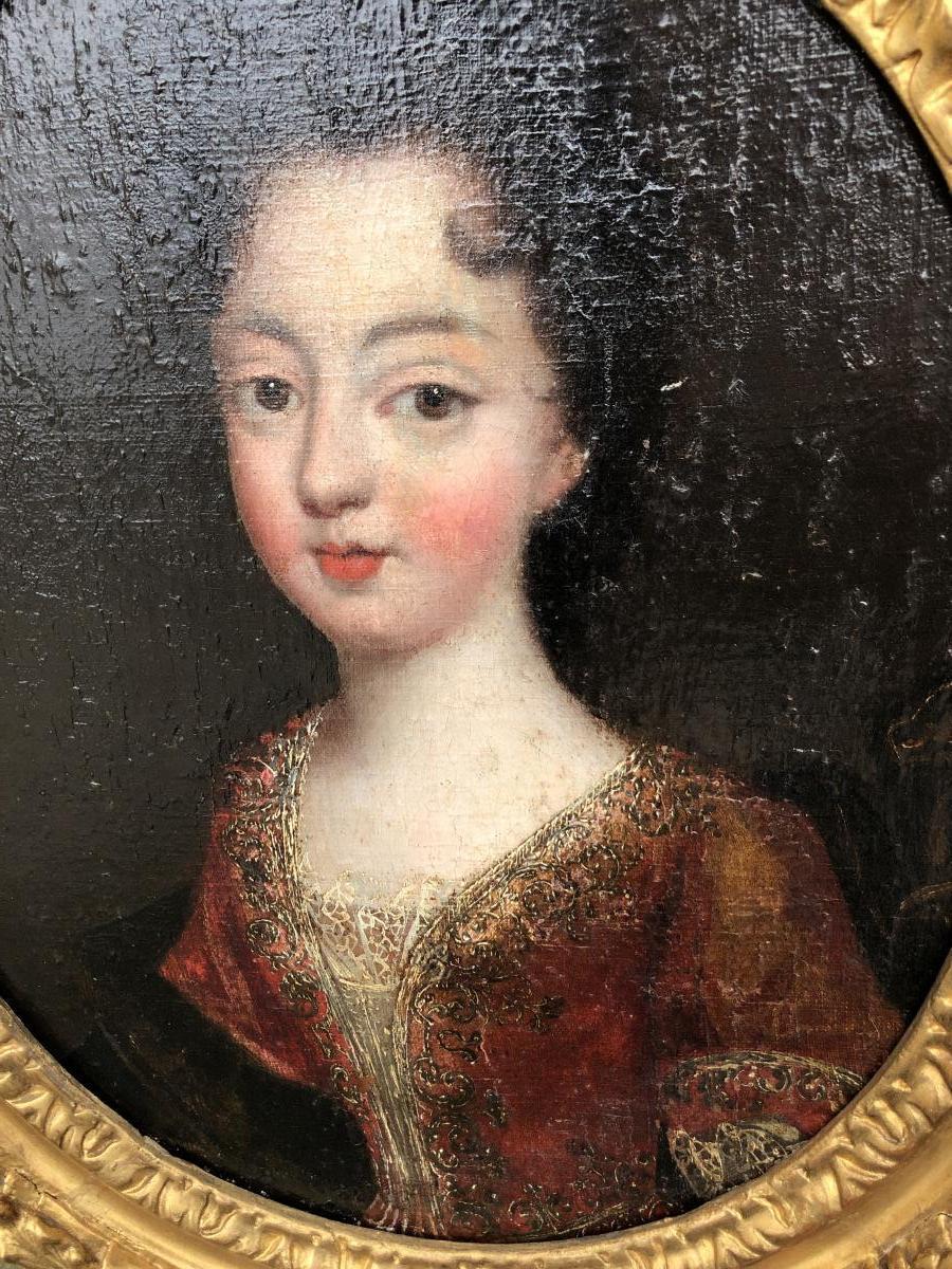 Portrait De Dame De Qualité époque Fin 17 Eme Siecle