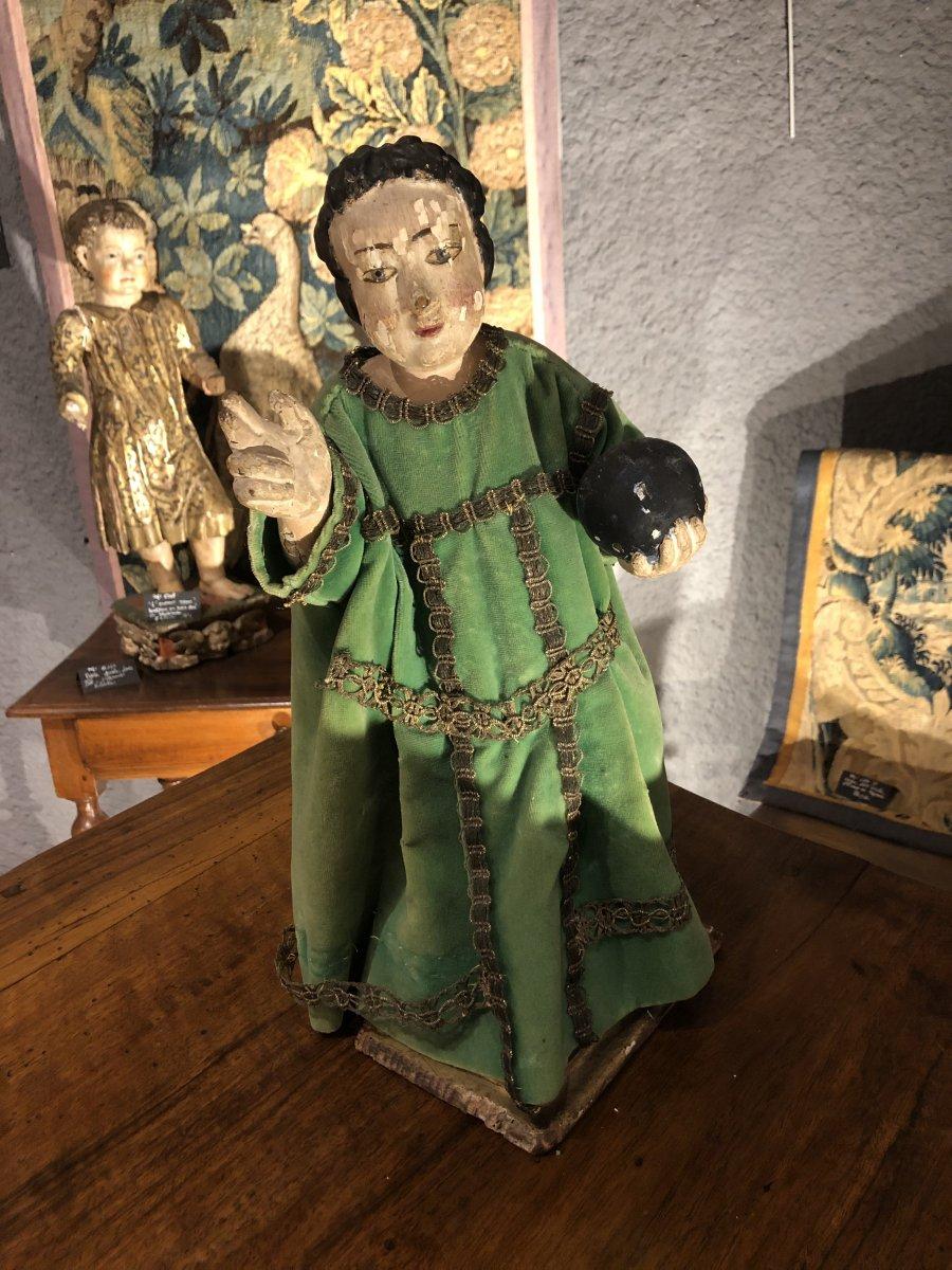 Statue En Bois époque 18 eme représentant Jesus enfant