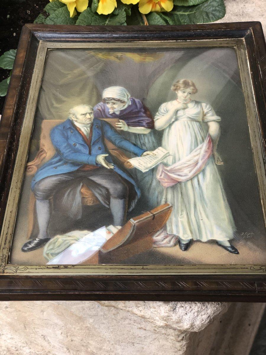 """John Opie (1761-1807) """"genre Scene"""""""