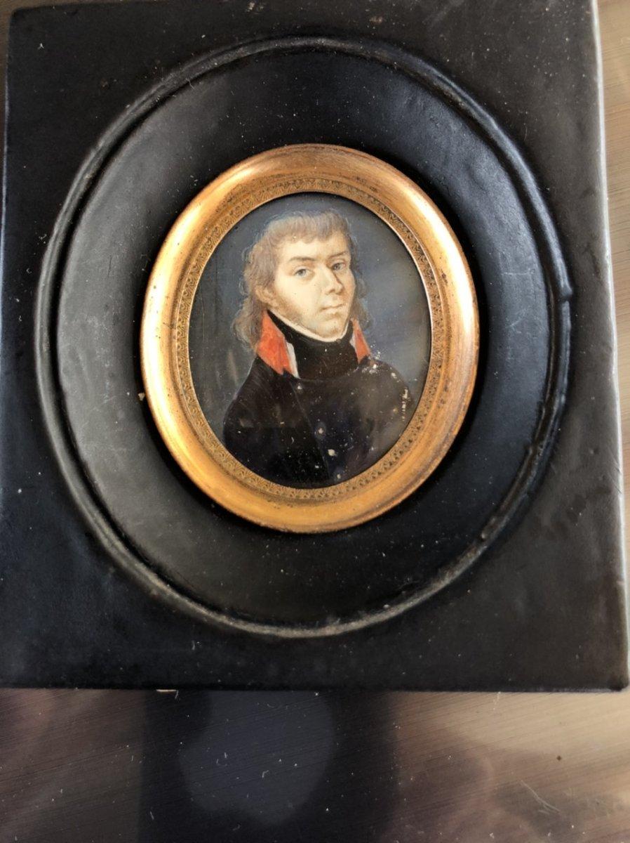 Miniature Militaire , Portrait D'officier Du 1er Empire