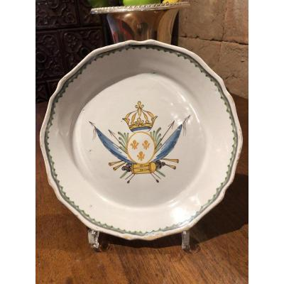 Revolutionary Plate In Faience Of Nevers Era 18 Eme Century