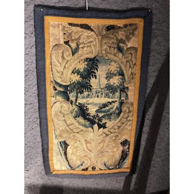 Tapestry Fragment Time 17 Eme Century