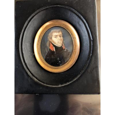 Military Miniature, Portrait Of An Officer From The 1st Empire