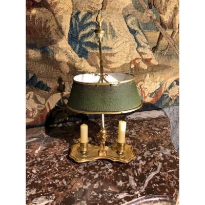 Petite Lampe Bouillotte En Bronze Doré époque XIX Eme Siècle