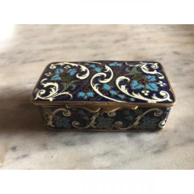 Boîte à Timbres En Bronze Cloisonné Et Doré Vers 1880