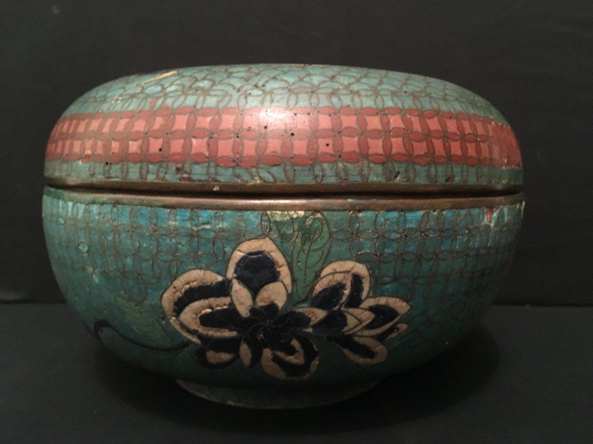 Chine Boîte au Dragon En émaux Cloisonnés XIXème