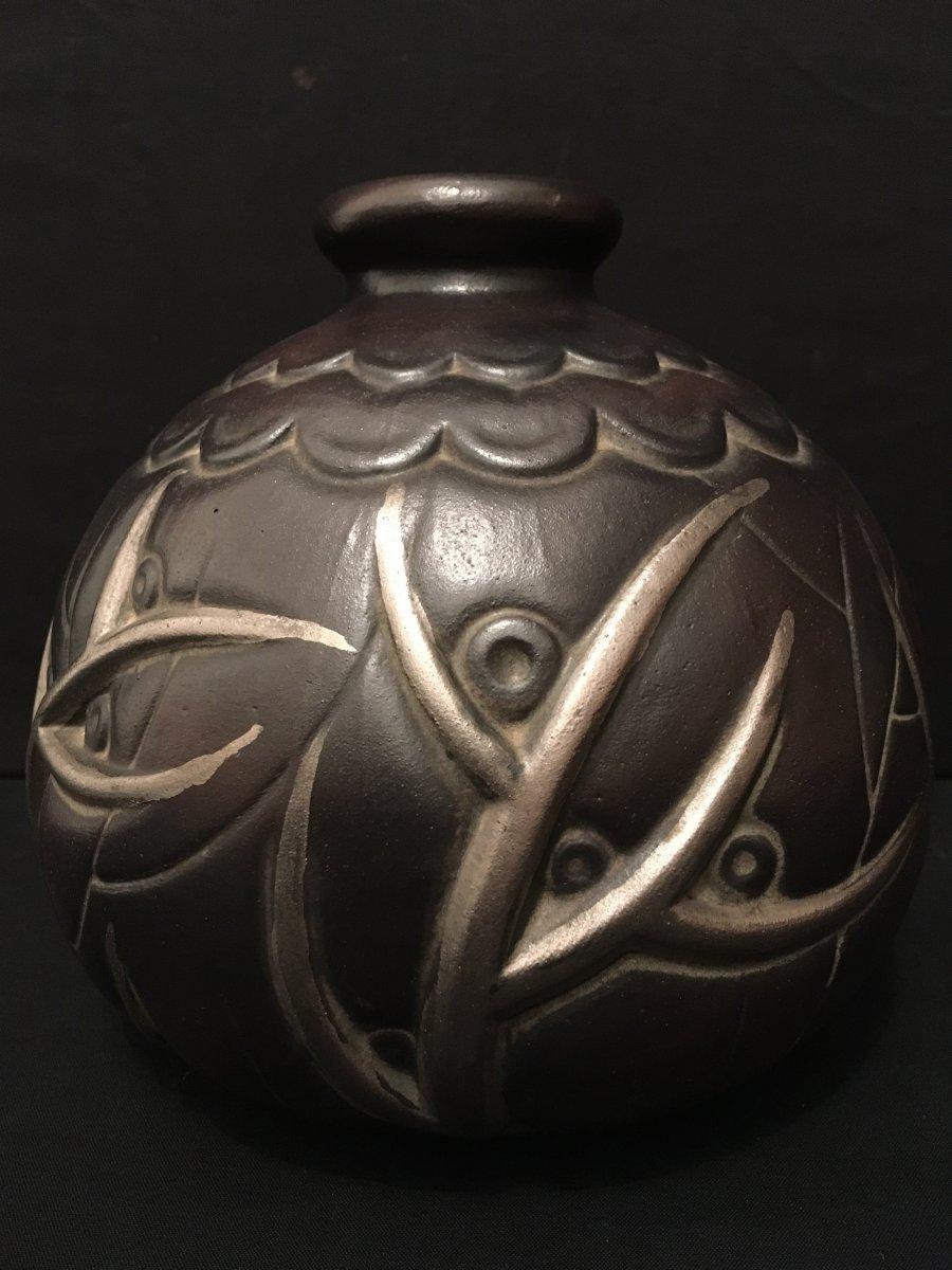 Art Deco Vase By Mougin In Nancy