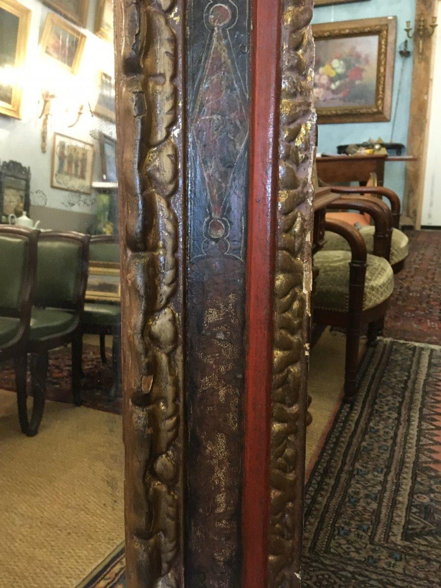 Grand Miroir Dans Un Cadre Espagnol Du XVIIIème Siècle-photo-1