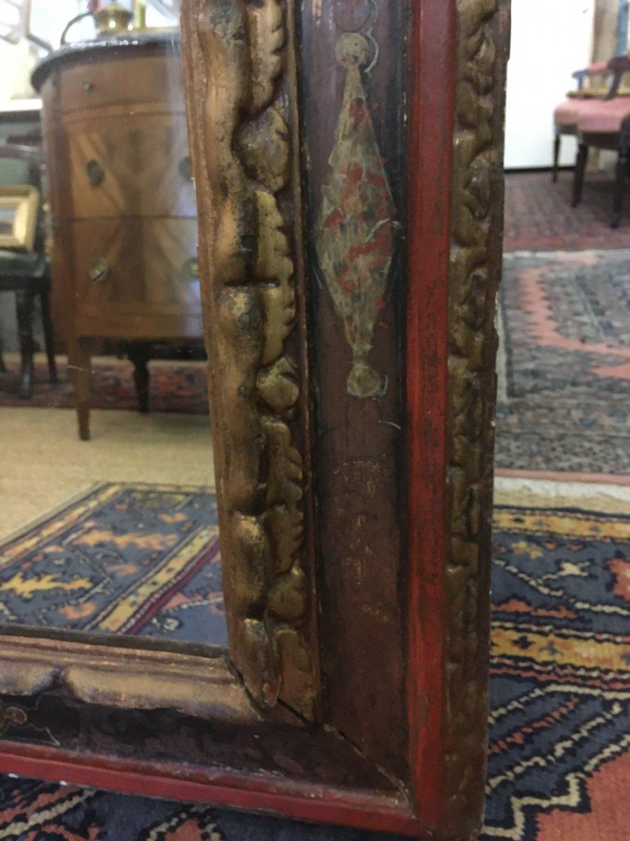 Grand Miroir Dans Un Cadre Espagnol Du XVIIIème Siècle-photo-2