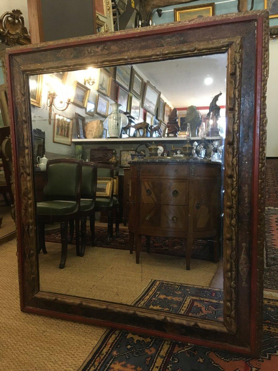 Grand Miroir Dans Un Cadre Espagnol Du XVIIIème Siècle