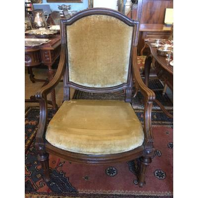 Large Louis XVI Armchair With Frame Eighteenth Century Time