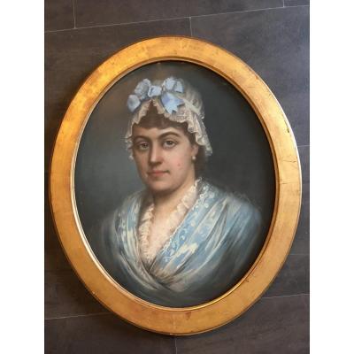 Pastel Femme En Tenue d'intérieur XIXème