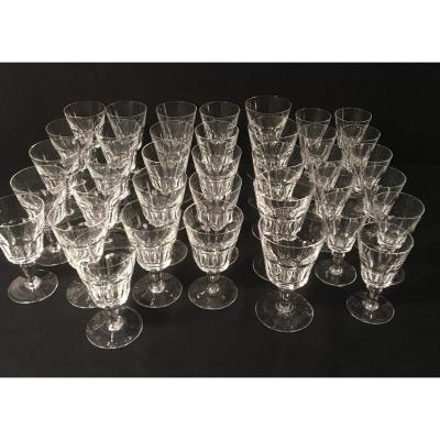 Baccarat Crystal Glass Service Missouri Model 37 Pieces
