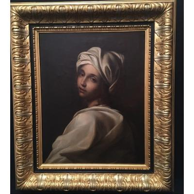 école Italienne Du XIXème Siècle  Portrait De La Cenci d'Après Guido Reni