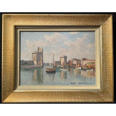 Port Of La Rochelle Painting By Christian Couillaud